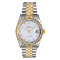 Rolex Stainless Steel and Yellow Gold Datejust Wristwatch Ref 16233