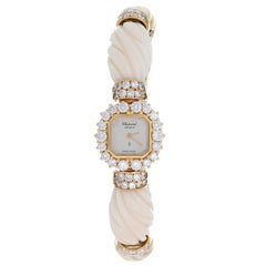 Chopard Ladies Yellow Gold Diamond Quartz Bracelet Wristwatch Ref 10/3947