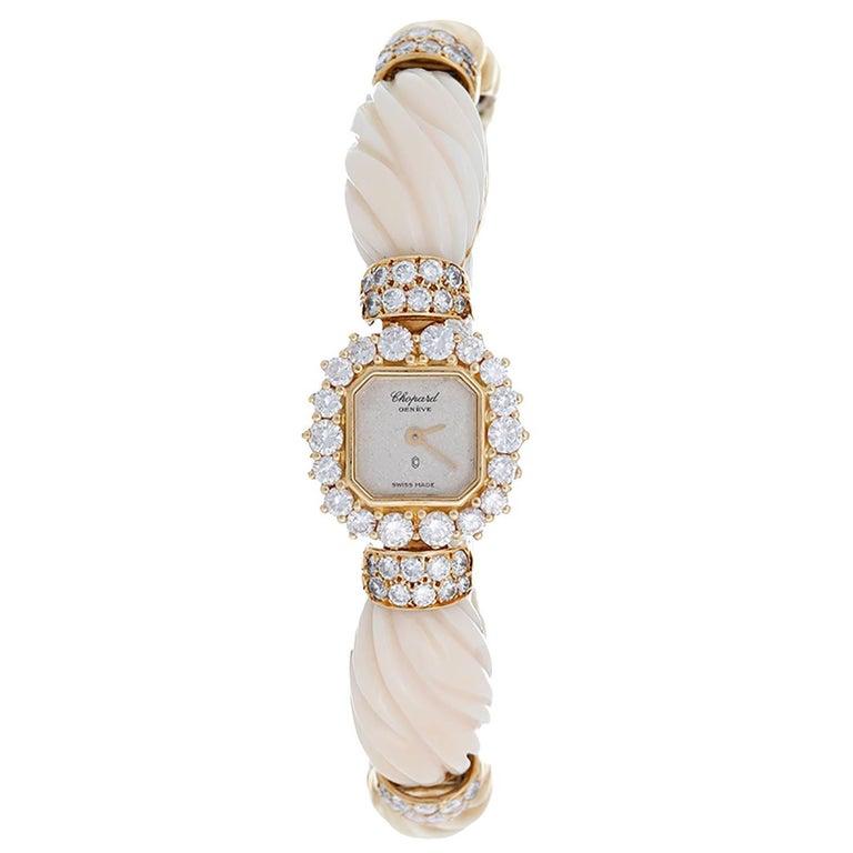 Chopard Ladies Yellow Gold Diamond Quartz Bracelet Wristwatch Ref 10/3947