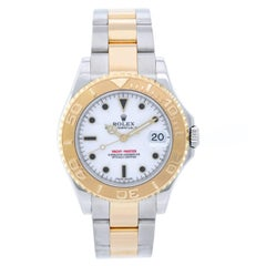 Rolex Yellow Gold Stainless Steel Yacht-Master Automatic Wristwatch Ref 168623