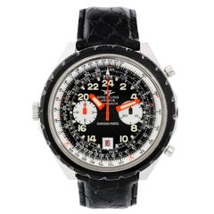 Breitling Stainless Steel Cosmonaute Chronomatic Automatic Wristwatch Ref 1809