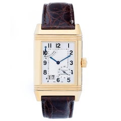 Jaeger-LeCoultre Yellow Gold Reverso Quartz Wristwatch Ref 240.1.15