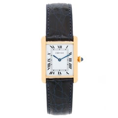Cartier Ladies Yellow Gold Tank Manual Wristwatch