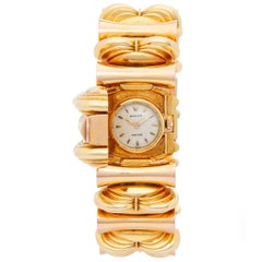 Rolex Ladies Tricolor Gold Precision Manual Wind Bracelet Wristwatch, circa 1950