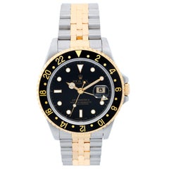Rolex Yellow Gold Stainless Steel GMT-Master II Automatic Wristwatch Ref 16713