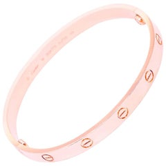Cartier Rose Gold Love Bracelet with Screwdriver