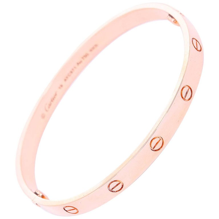 Cartier Love Bracelet Rose Gold with Screwdriver