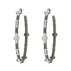 Jude Frances Silver Large Hoop Earrings