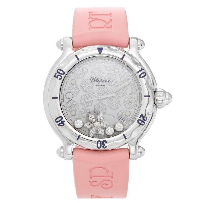 Chopard Ladies Stainless Steel Happy Sport Quartz Wristwatch