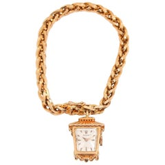 Rolex Ladies Yellow Gold Lantern Charm Bracelet Manual Watch, circa 1960s