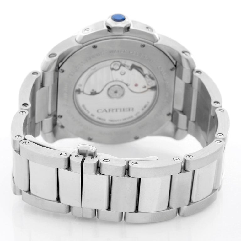 Men's Cartier Stainless Steel Automatic Wristwatch Ref W7100015 For Sale