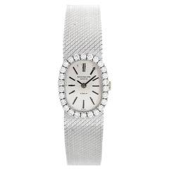 Patek Philippe Ladies White Gold Diamond Dress Wristwatch Ref 3377/1