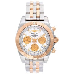 Breitling Rose Gold Stainless Steel Chronomat Automatic Chronograph Wristwatch