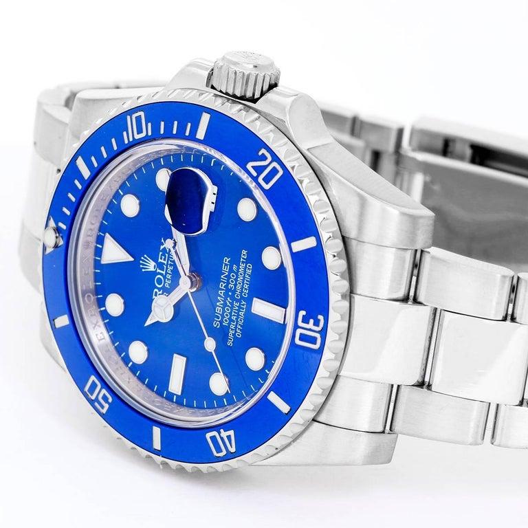 Rolex Submariner Blue White Gold