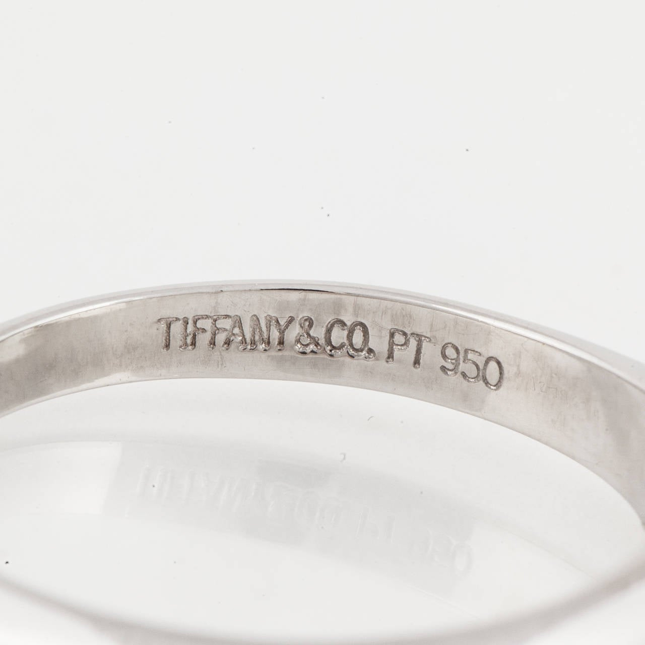Tiffany & Co. Diamond Platinum Solitare Ring 5