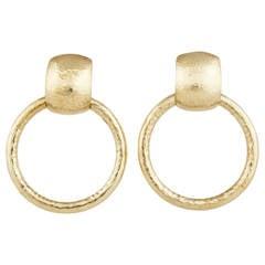 Tiffany Co Paloma Pico Gold Hoop Earrings