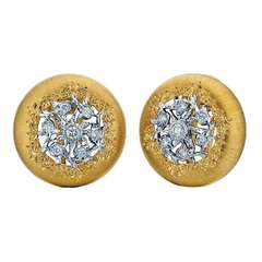 Buccellati Diamond and Two Tone Gold Earrings