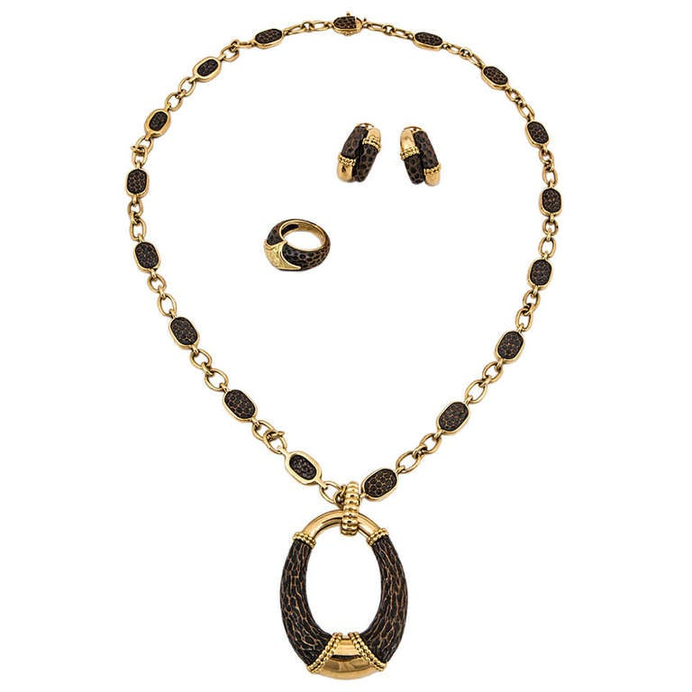 Boucheron Bronze and Gold Jewelry Suite