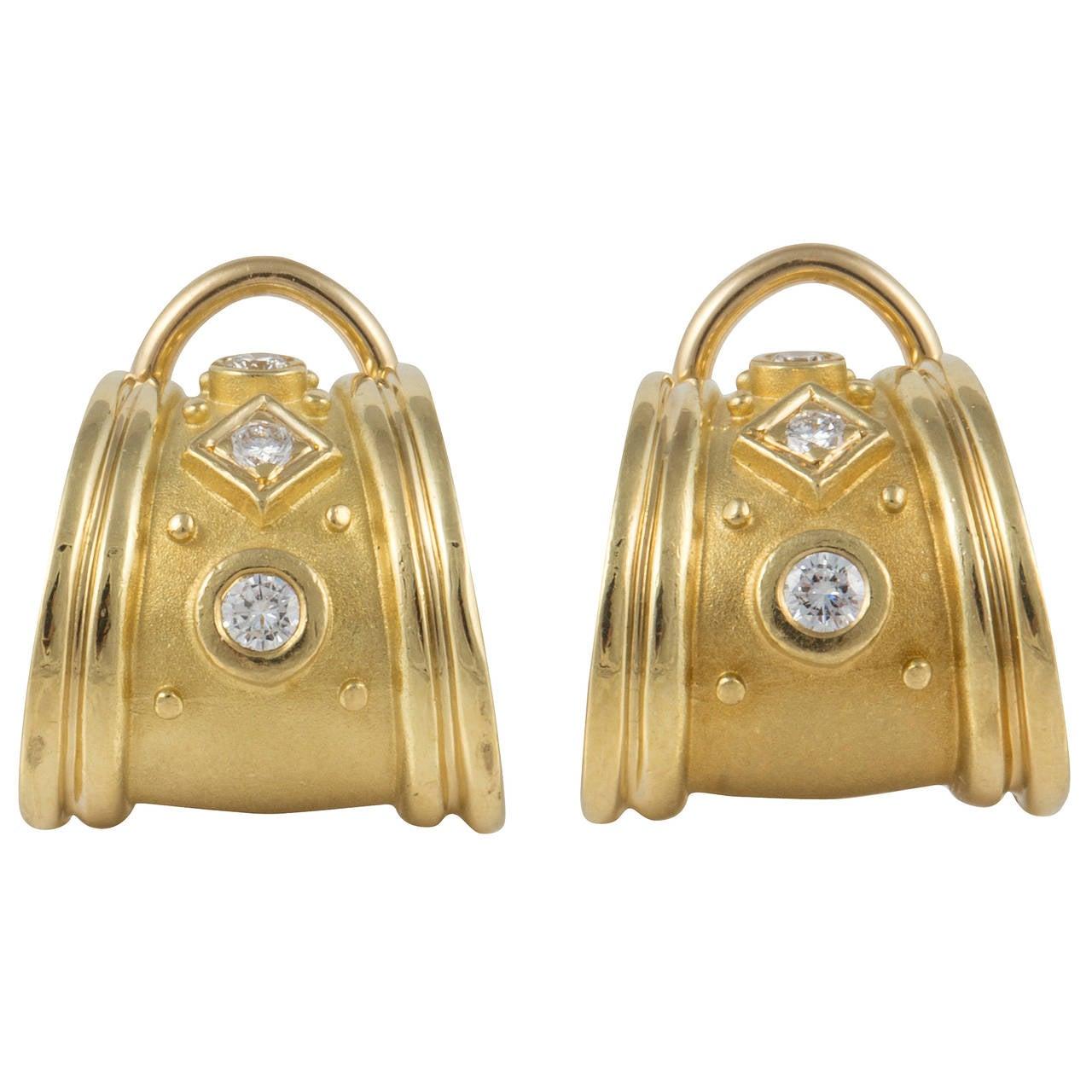 SeidenGang Diamond Gold Earrings