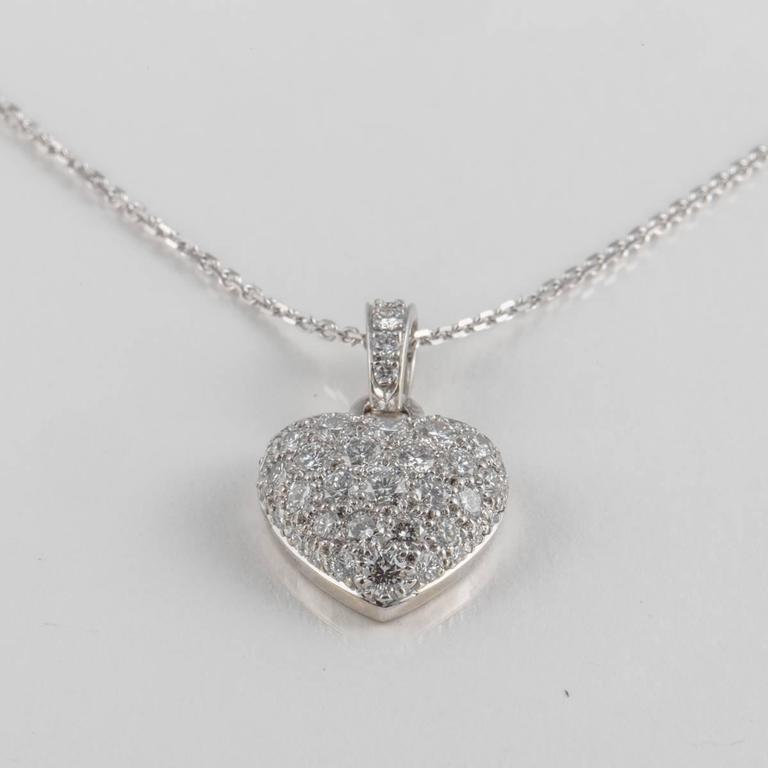 Cartier Diamond Gold Heart Necklace 4