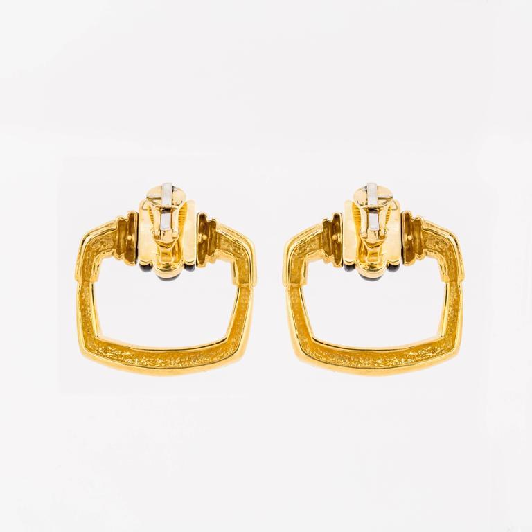 Cartier Aldo Cipullo 18 Karat Doorknocker Earrings In Excellent Condition For Sale In Houston, TX