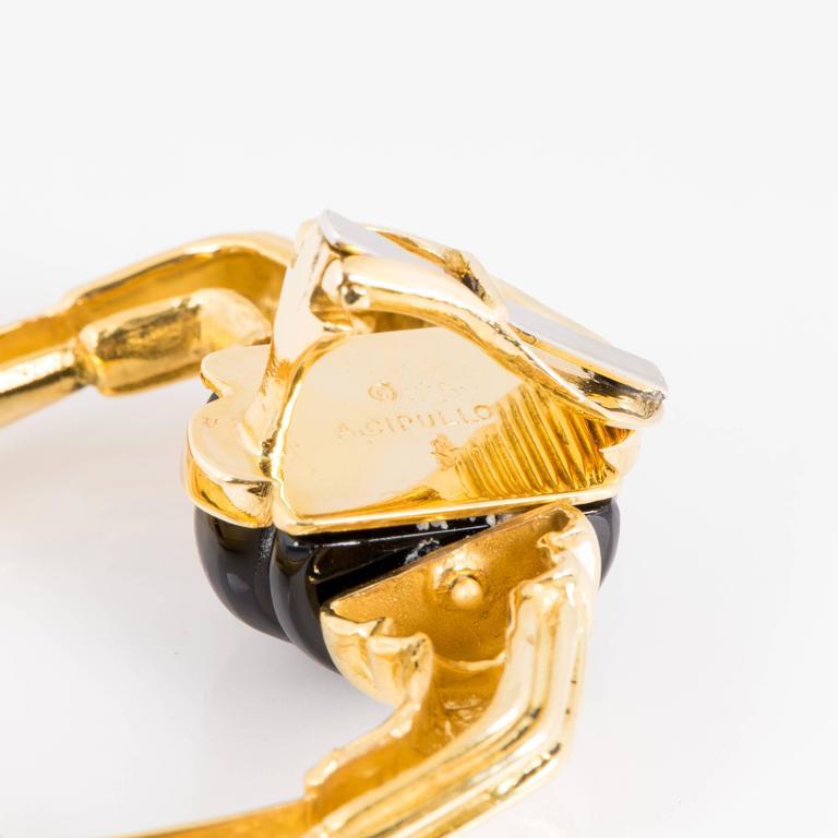 Women's or Men's Cartier Aldo Cipullo 18 Karat Doorknocker Earrings For Sale