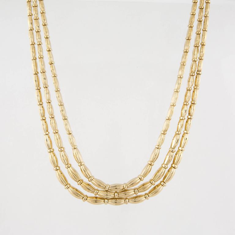 Tiffany & Co. 18K yellow gold necklace marked