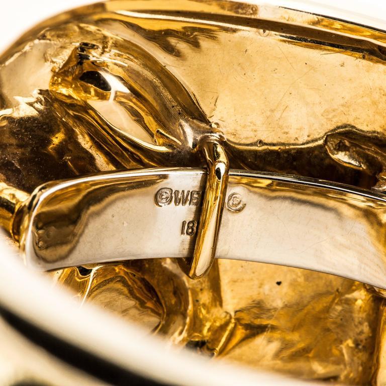 Women's or Men's David Webb Lion Cuff Bracelet For Sale