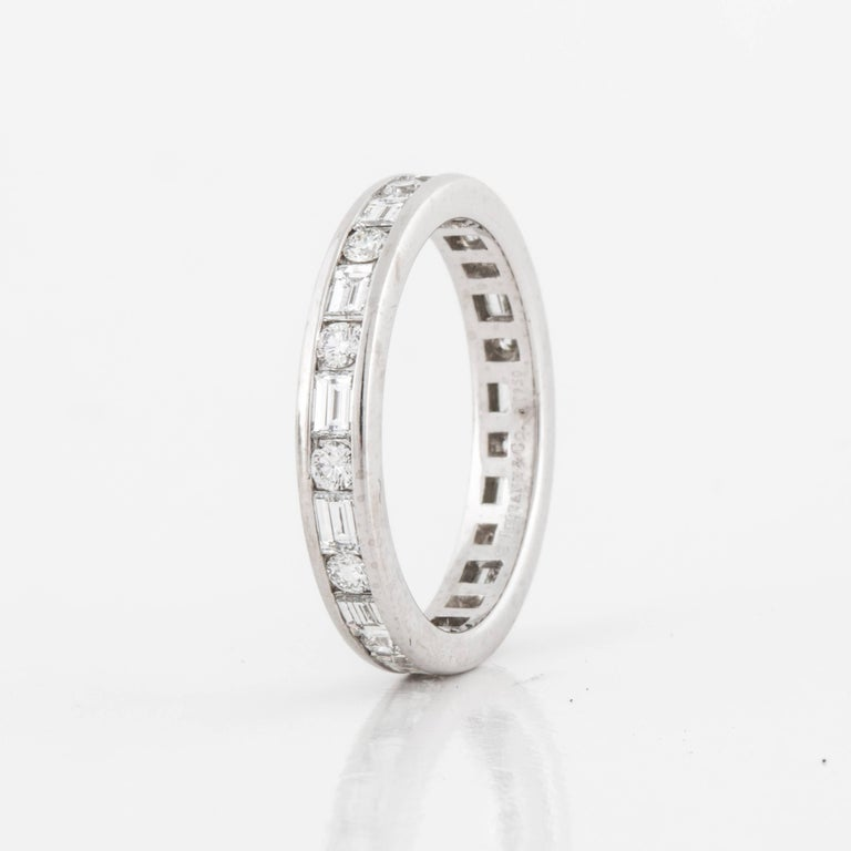 Tiffany & Co. Diamond Eternity Band In Excellent Condition For Sale In Houston, TX