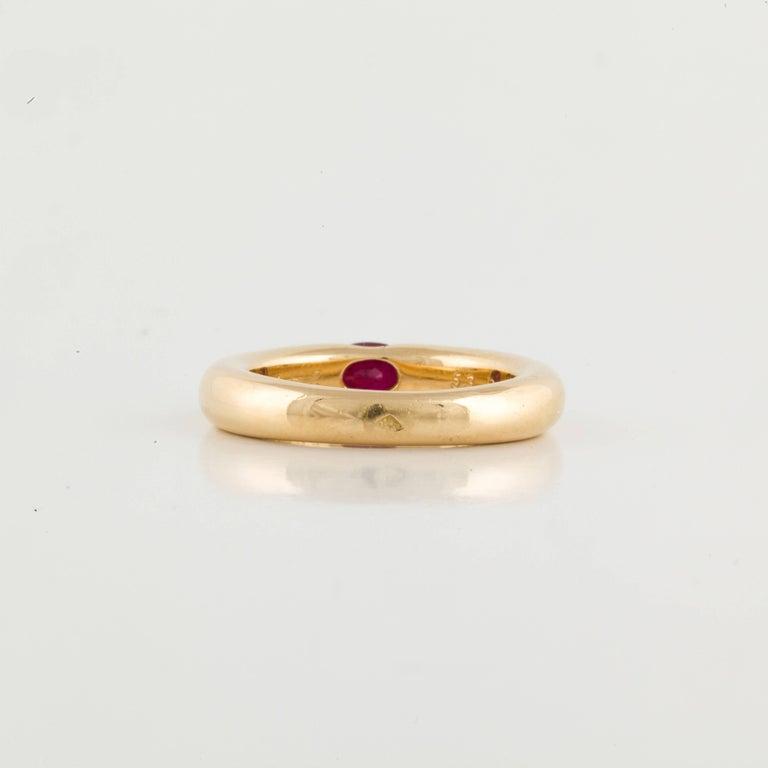 Women's or Men's Cartier Ellipse Ruby Ring