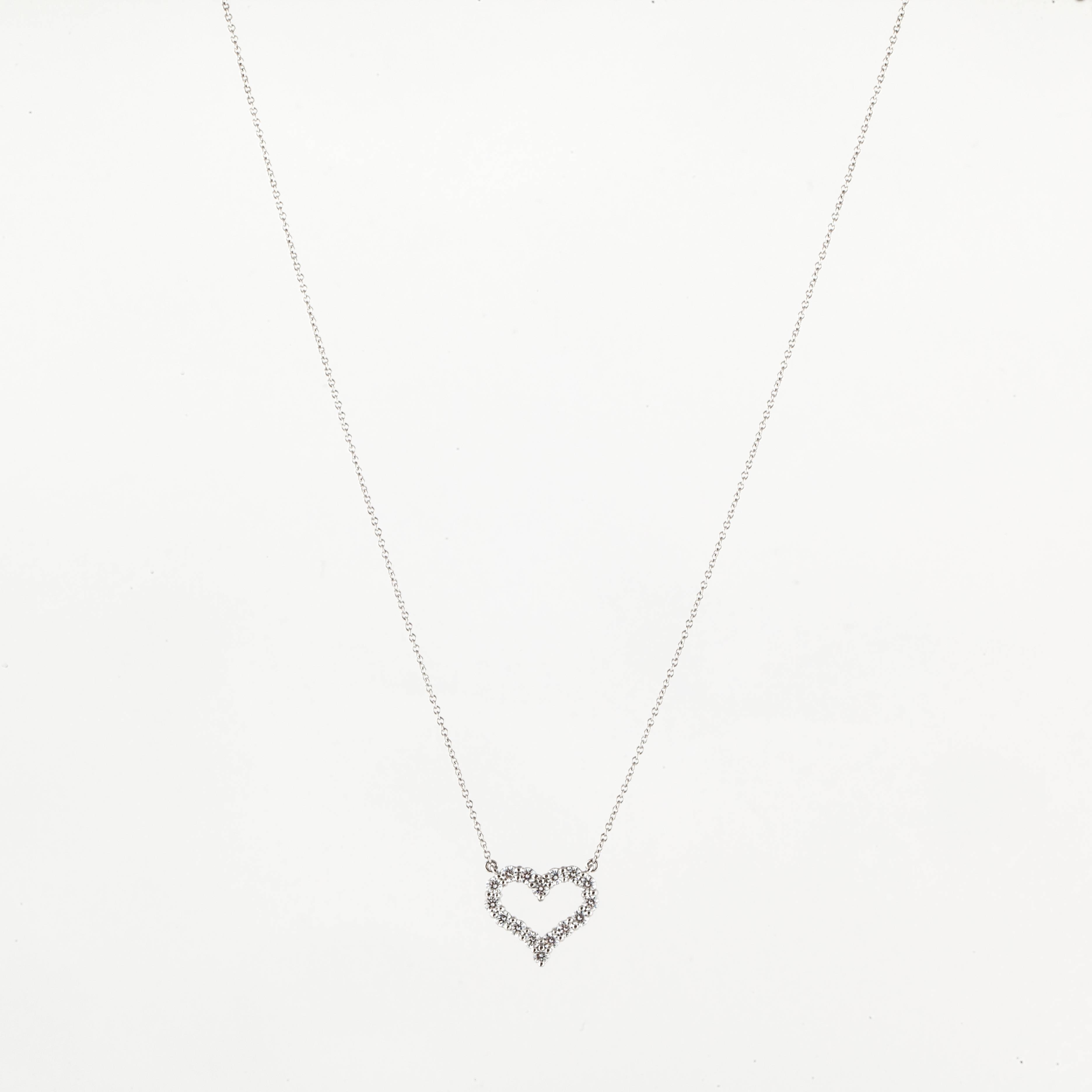 e1f93ea7f6e21 Tiffany and Co. Diamond Heart Necklace at 1stdibs