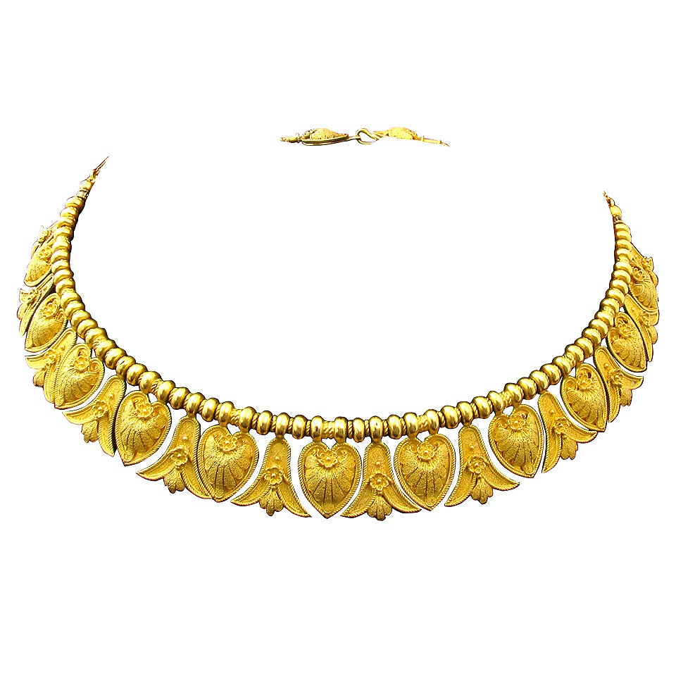 Antique Italian Gold Etruscan Style Necklace At 1stdibs
