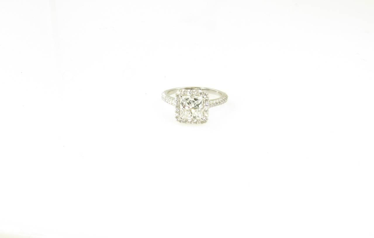 Tiffany Style Princess Cut Engagement Rings