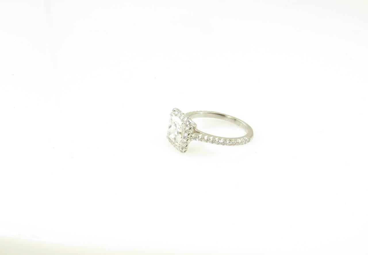 and co platinum princess cut engagement