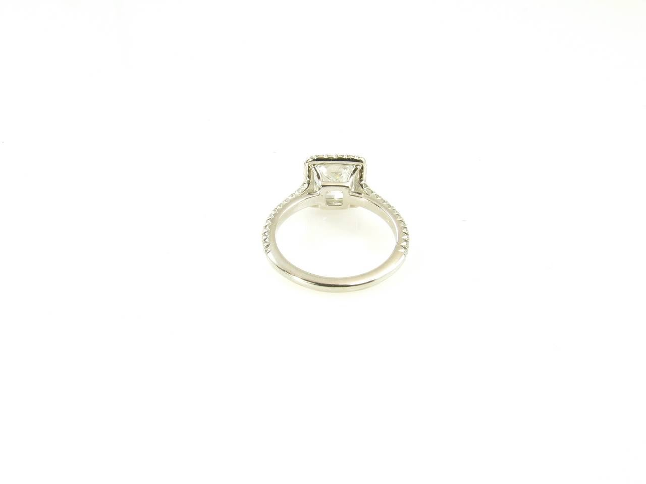 Tiffany And Co Diamond Platinum Princess Cut Engagement