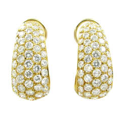 VAN CLEEF AND ARPELS Gold and Diamond Earrings.
