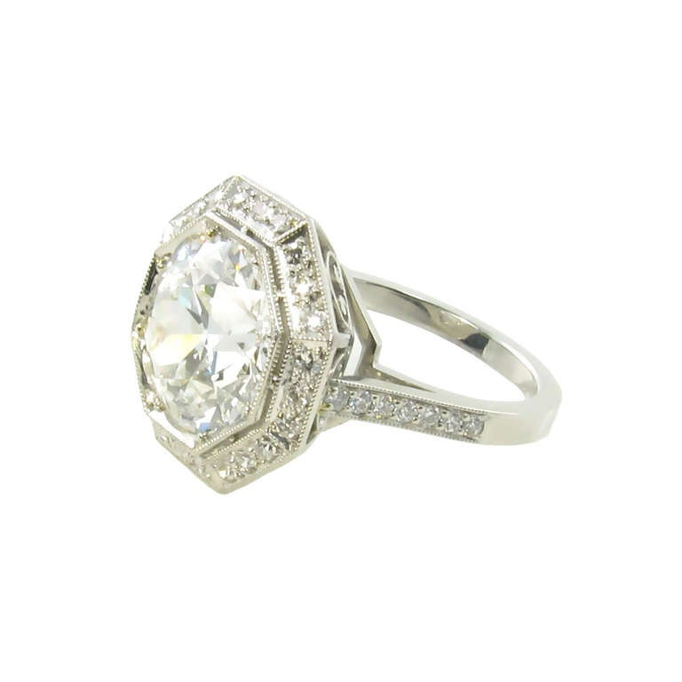 A Spectacular Edwardian Platinum And Diamond Ring At 1stdibs