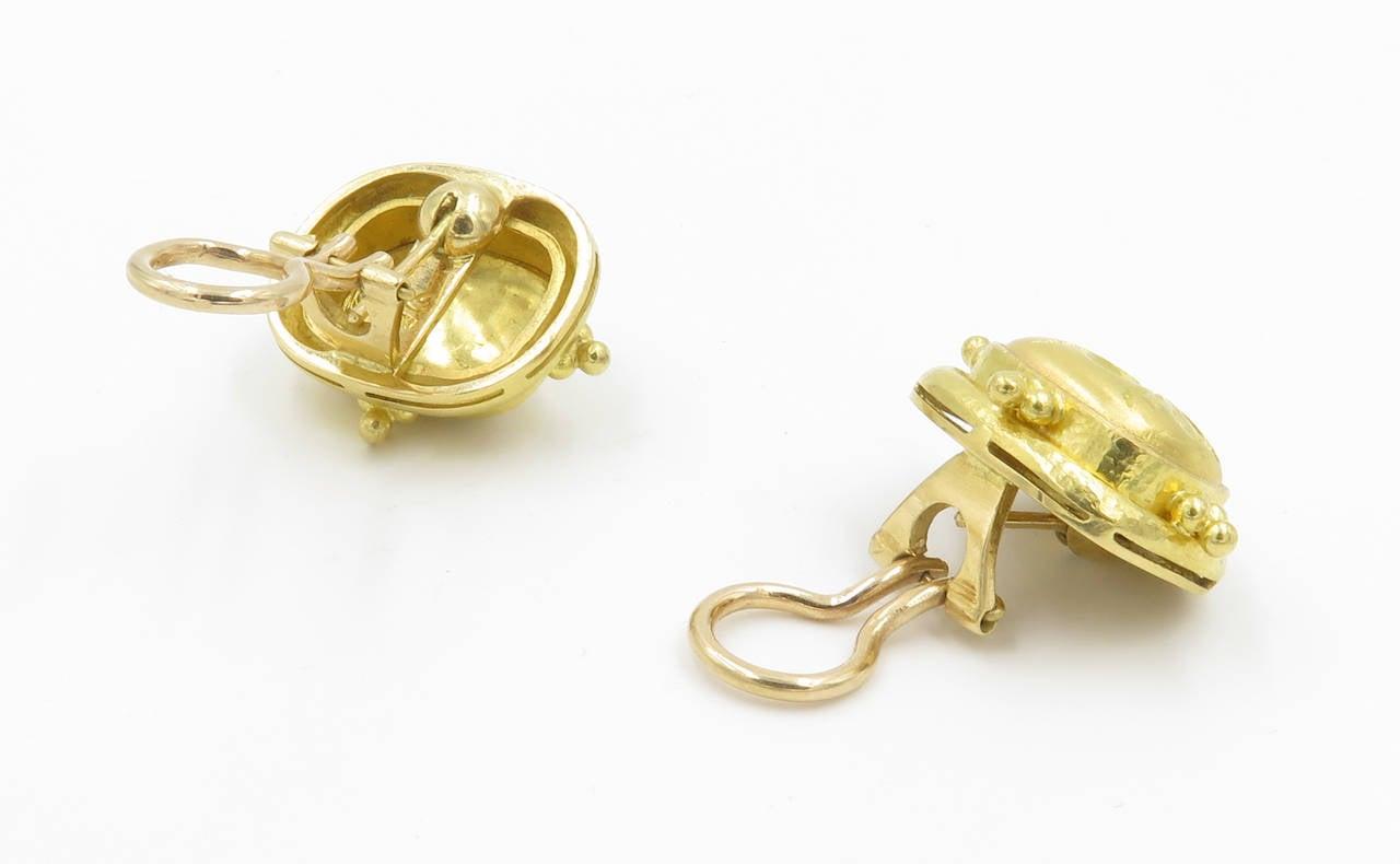 elizabeth locke gold bee earrings at 1stdibs
