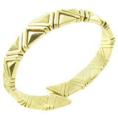 Bulgari Yellow Gold Cuff Bracelet