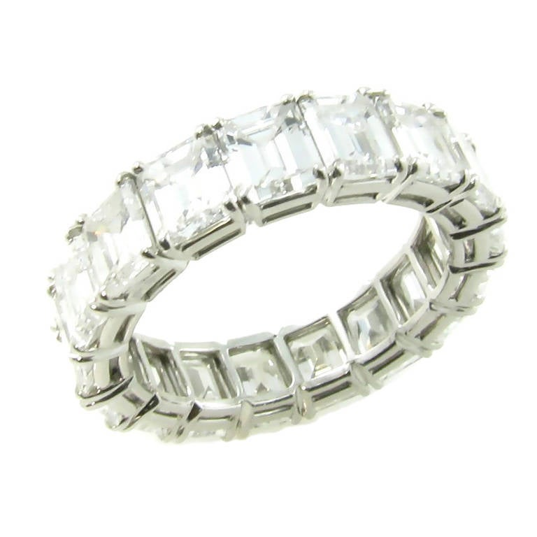 Harry Winston Diamond Platinum Eternity Band At 1stdibs