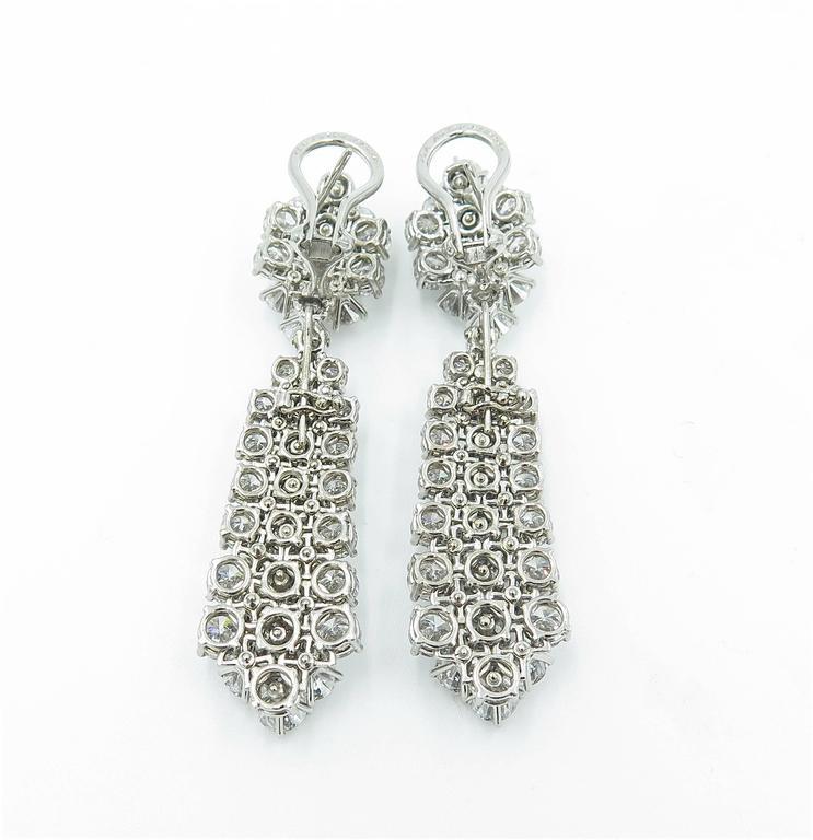 "Serial Earrings: Van Cleef And Arpels ""A Cheval"" Diamond Platinum Dangle"