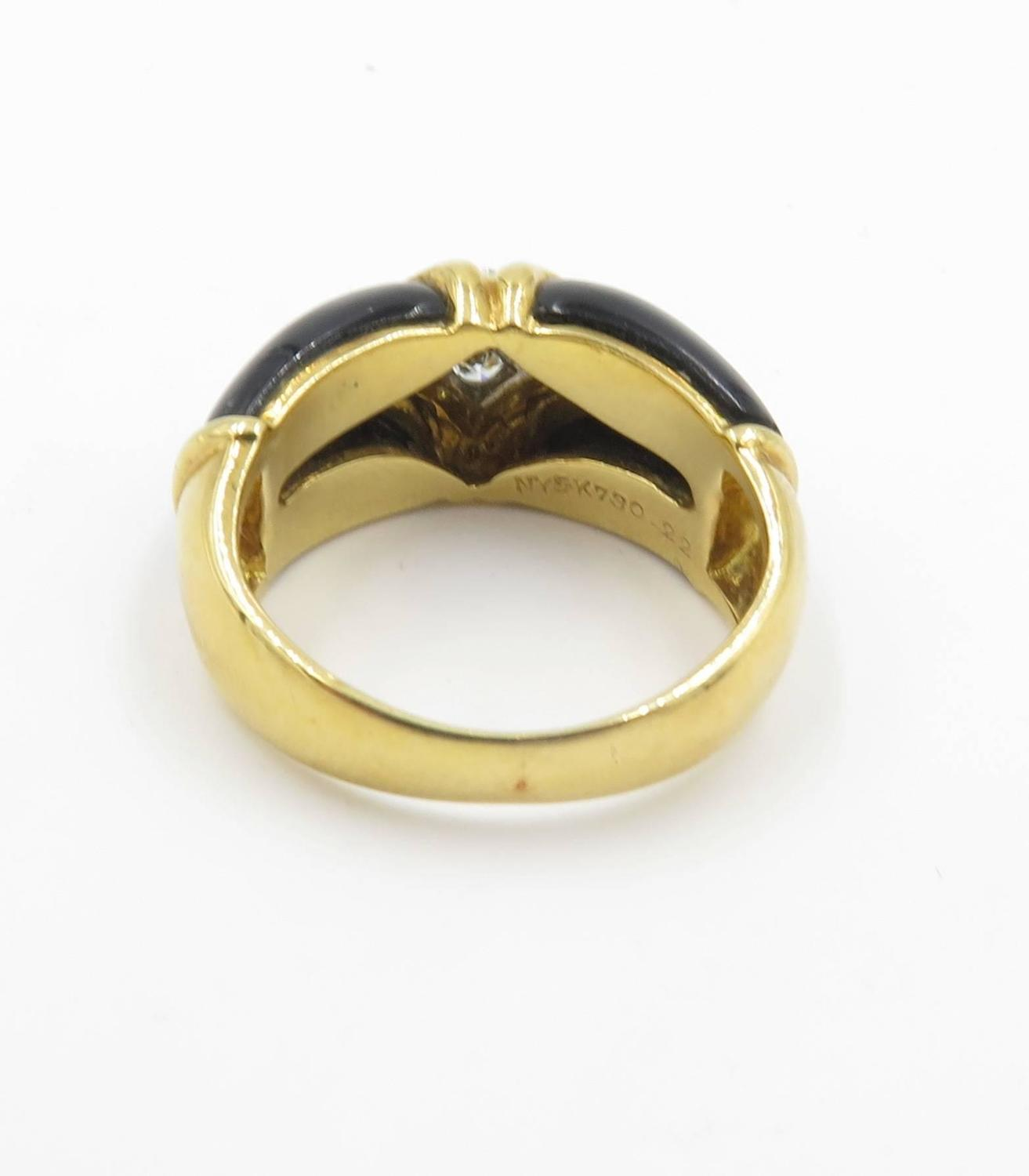 cleef and arpels black onyx gold ring at 1stdibs