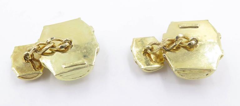 1970s Cartier Gold Barrel Cufflinks For Sale 2