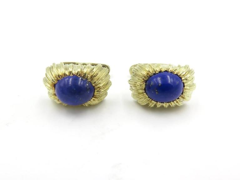Lapis Lazuli and Gold Cufflinks For Sale 1