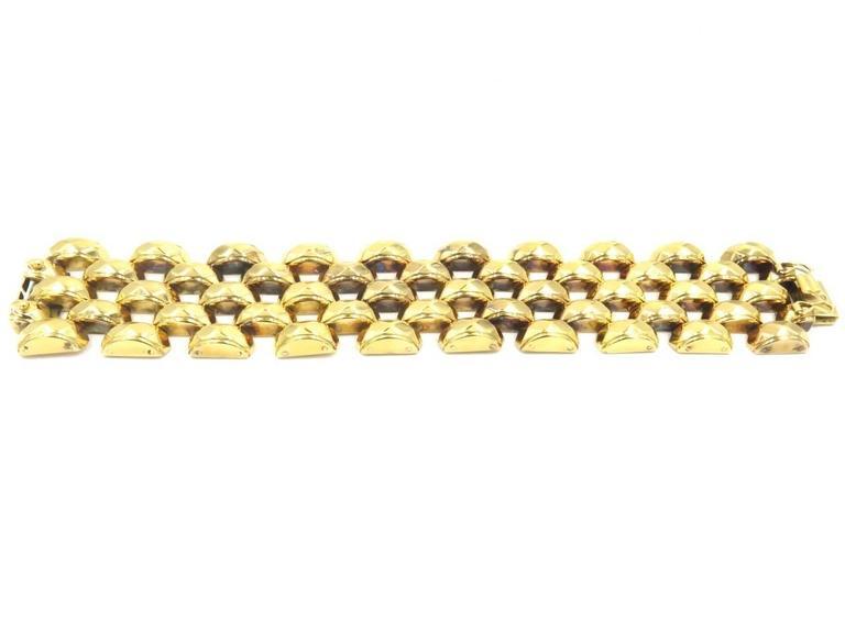 Hammered Rose Gold Brick Link Bracelet 2