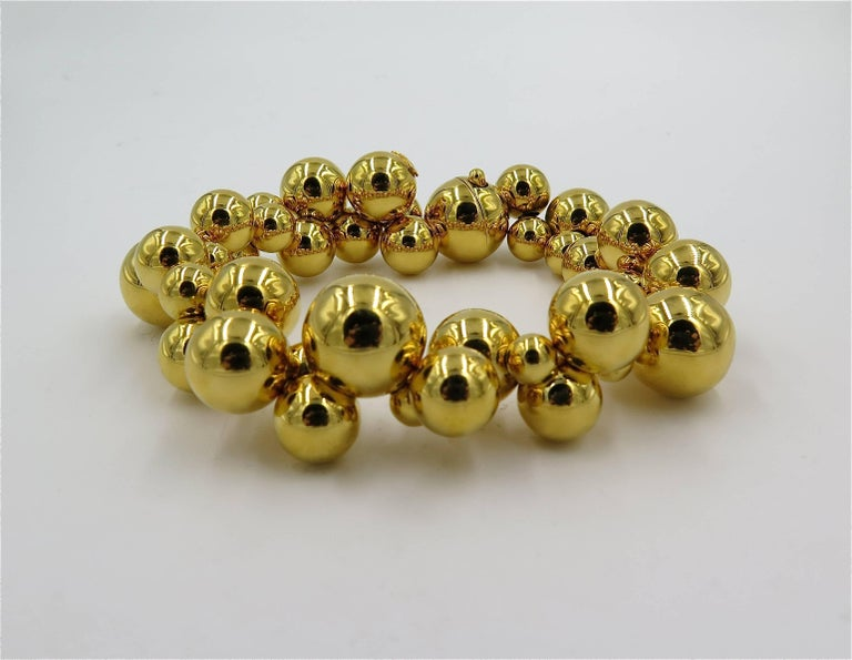 Contemporary Marina B. Gold Bead Bracelet For Sale