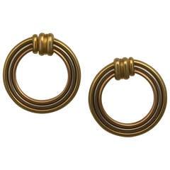 Cartier 3-Color Gold Hoop Earrings