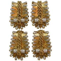 Van Cleef & Arpels Paris Rare Set of Dress Clips