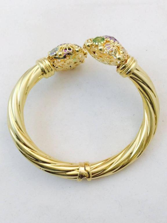Amethyst Citrine Peridot Aquamarine Gold By Pass Design