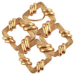Tiffany & Co. Gold Pendant Brooch